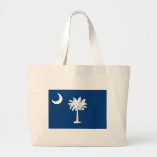 Flag Of South Carolina Large Tote Bag