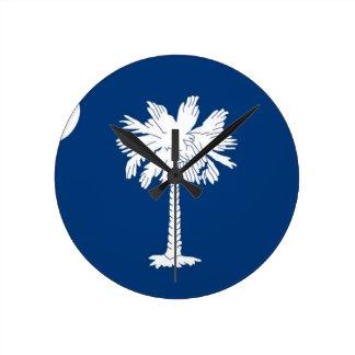 Flag Of South Carolina Round Clock