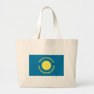 Flag_of_South_Dakota Large Tote Bag