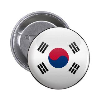 Flag of South Korea 6 Cm Round Badge