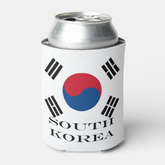 Flag of South Korea Can Cooler