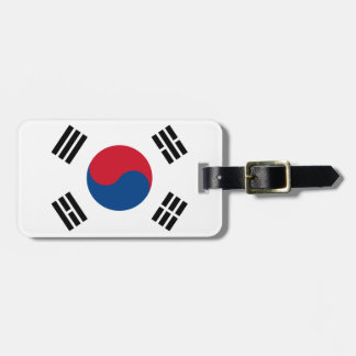 Flag of South Korea Easy ID Personal Luggage Tag