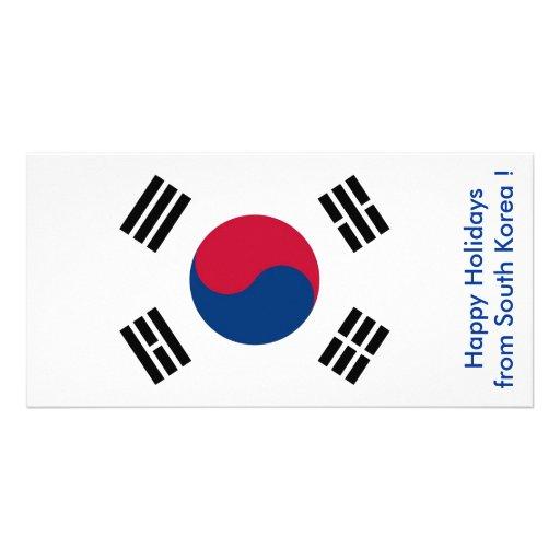 Flag of South Korea, Happy Holidays from Korea Photo Cards
