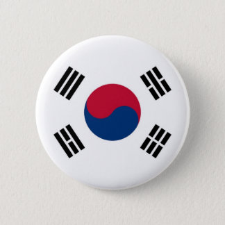 Flag of South Korea on Pin / Button Badge