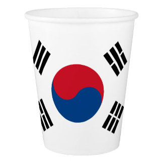 Flag of South Korea Paper Cup