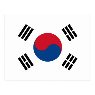 Flag of South Korea Postcard