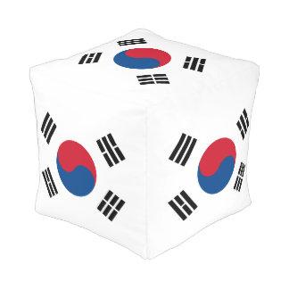 Flag of South Korea Pouf