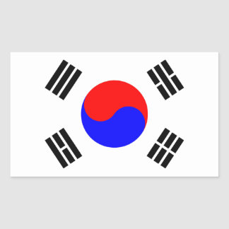 Flag of South Korea Rectangular Sticker