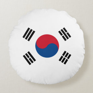 Flag of South Korea Round Cushion