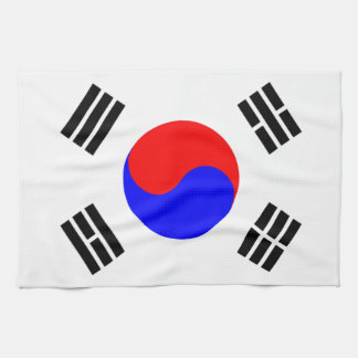 Flag of South Korea Tea Towel