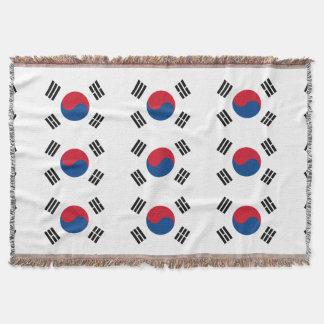 Flag of South Korea Throw Blanket
