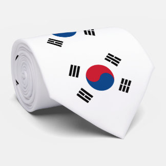 Flag of South Korea Tie
