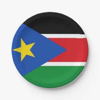 Flag of South Sudan Paper Plates 7 Inch Paper Plate