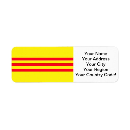 Flag of South Vietnam Return Address Label