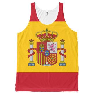 Flag of Spain - Bandera de Espana All-Over Print Singlet