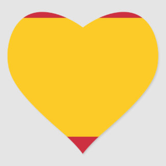 Flag of Spain, Bandera de España, Bandera Española Heart Sticker