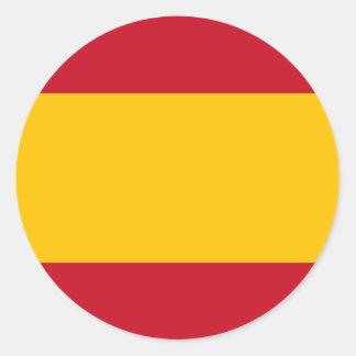 Flag of Spain, Bandera de España, Bandera Española Round Sticker