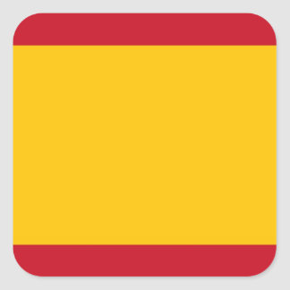 Flag of Spain, Bandera de España, Bandera Española Square Sticker