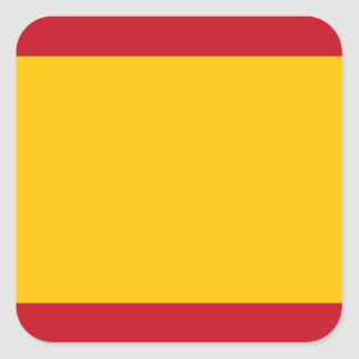 Flag of Spain, Bandera de España, Bandera Española Square Sticker