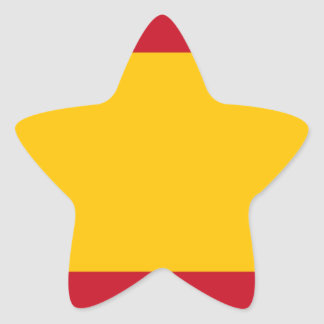 Flag of Spain, Bandera de España, Bandera Española Star Sticker