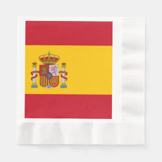 Flag of Spain - Bandera de Espana Disposable Napkin