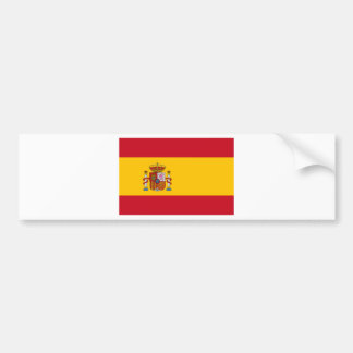 Flag of Spain - Bandera de España - Spanish Flag Bumper Sticker
