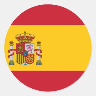 Flag of Spain - Bandera de España - Spanish Flag Classic Round Sticker