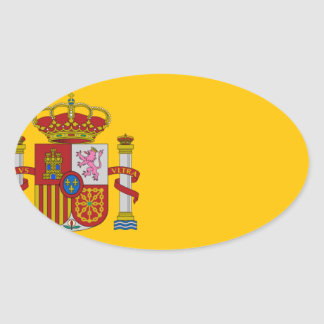 Flag of Spain - Bandera de España - Spanish Flag Oval Sticker
