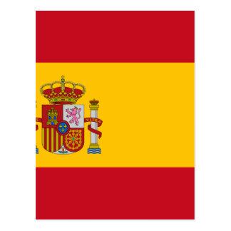 Flag of Spain - Bandera de España - Spanish Flag Postcard