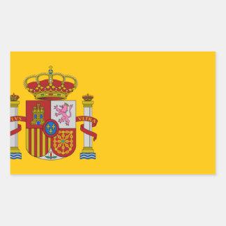 Flag of Spain - Bandera de España - Spanish Flag Rectangular Sticker