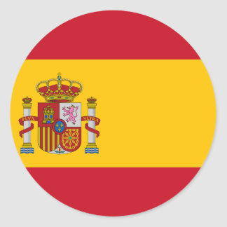 Flag of Spain - Bandera de España - Spanish Flag Round Sticker