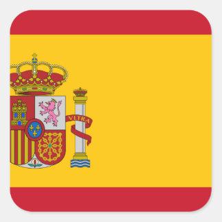 Flag of Spain - Bandera de España - Spanish Flag Square Sticker