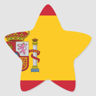 Flag of Spain - Bandera de España - Spanish Flag Star Sticker