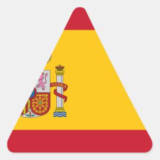 Flag of Spain - Bandera de España - Spanish Flag Triangle Sticker