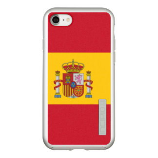 Flag of Spain Silver iPhone Case