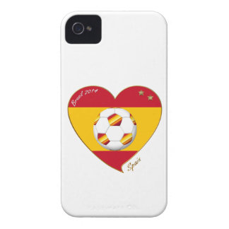 Flag of SPAIN SOCCER of national team 2014 iPhone 4 Case-Mate Case