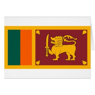 Flag of Sri Lanka (ශ්රී ලංකාවේ ජාතික කොඩිය) Card