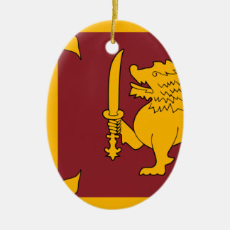 Flag of Sri Lanka (ශ්රී ලංකාවේ ජාතික කොඩිය) Ceramic Oval Decoration