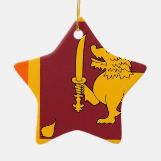 Flag of Sri Lanka (ශ්රී ලංකාවේ ජාතික කොඩිය) Ceramic Star Decoration