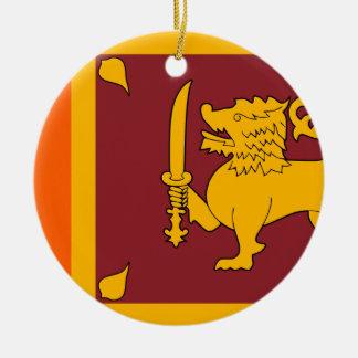 Flag of Sri Lanka (ශ්රී ලංකාවේ ජාතික කොඩිය) Round Ceramic Decoration