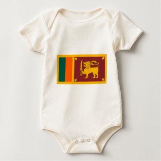 Flag_of_Sri_Lanka Baby Bodysuit