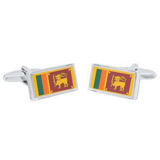 Flag of Sri Lanka Cufflinks Silver Finish Cufflinks