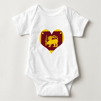 Flag of Sri Lanka Island Baby Bodysuit