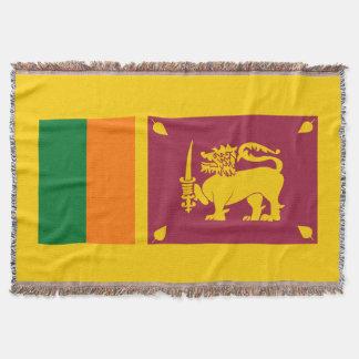 Flag of Sri Lanka Island Throw Blanket