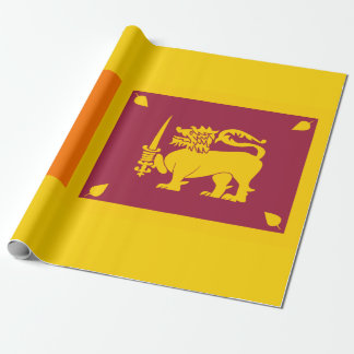 Flag of Sri Lanka Island Wrapping Paper