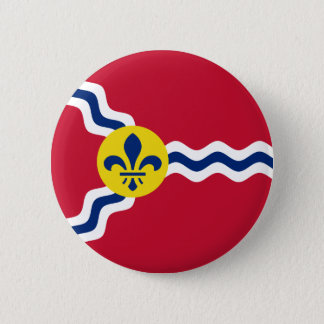 Flag of St. Louis, Missouri 6 Cm Round Badge