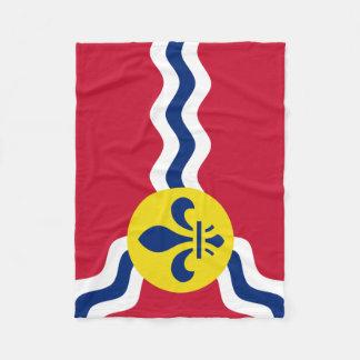 Flag of St. Louis, Missouri Fleece Blanket