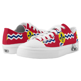 Flag of St. Louis, Missouri Low Tops