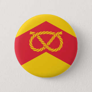 Flag of Staffordshire 6 Cm Round Badge
