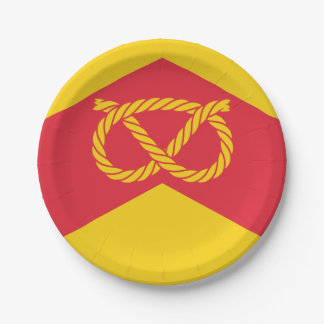 Flag of Staffordshire Paper Plate